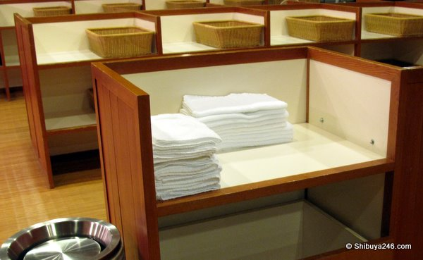 Small towels for use when going to and in the bath area