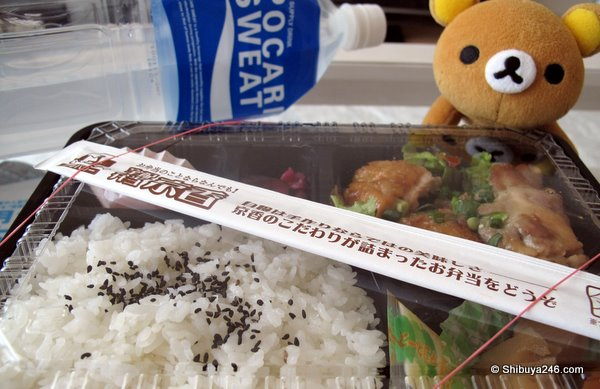 Rilakkuma on standby in case there are any crumbs ...