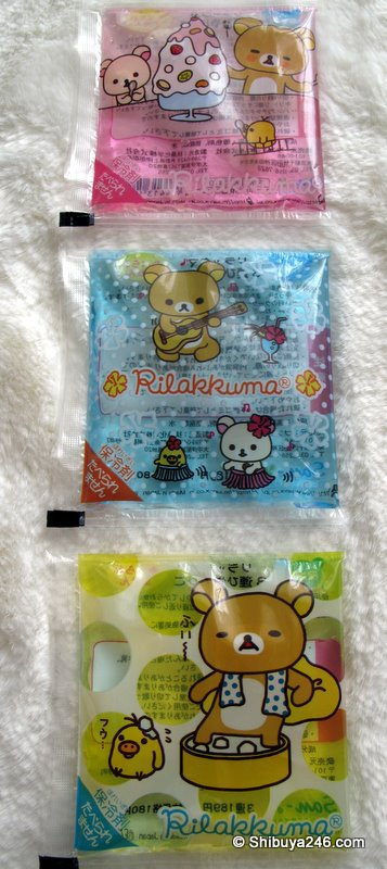Rilakkuma ice packs for summer