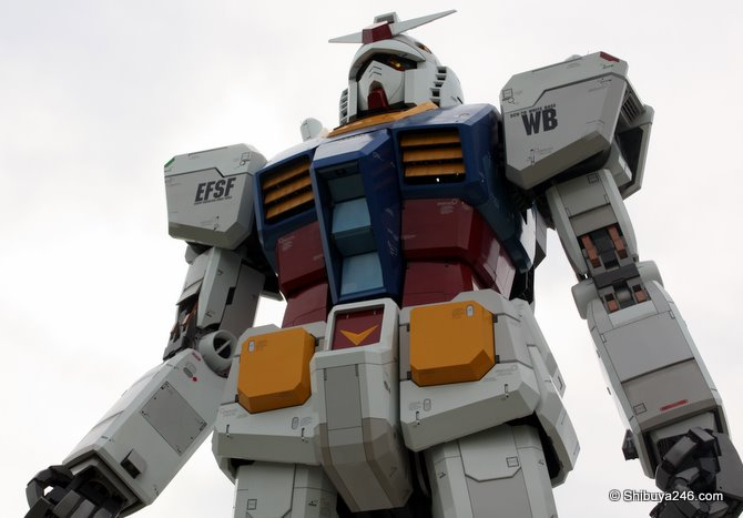 From this angle, Gundam looks like its ready to take off