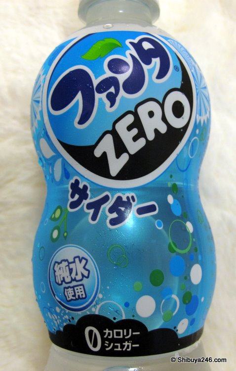 The Japanese side of the bottle サイダー