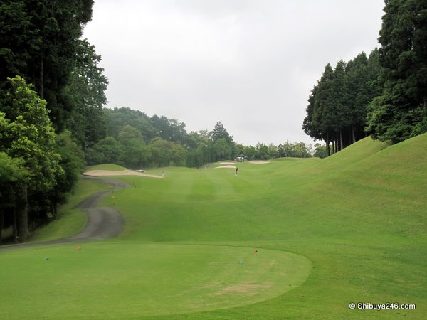 The course was nice and open, fairways green after the rain