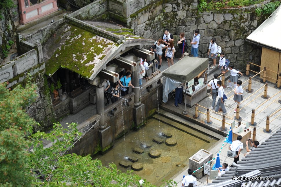 Drinking the water is said to bring you luck and good health. In the summer it can get quite crowded as it is a popular area