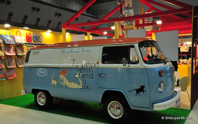 The cute Shinzi Katoh Design van