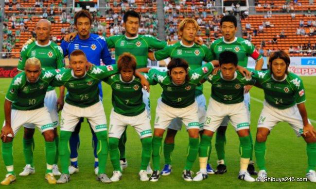 Tokyo Verdy kick-off team photo