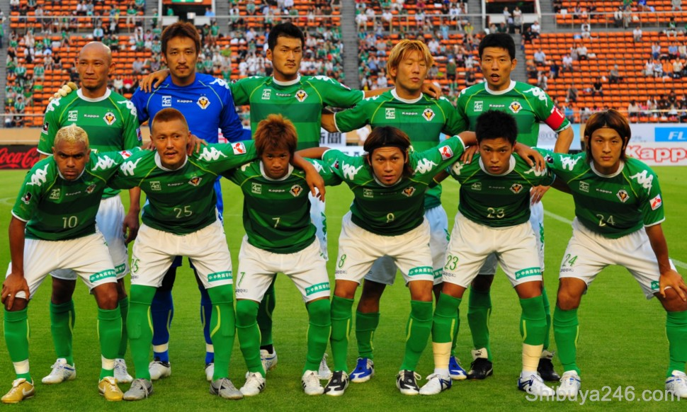 The Tokyo Verdy Soccer Team Kick-off photo for the match against Tokushima Vortis , 11 July 2009