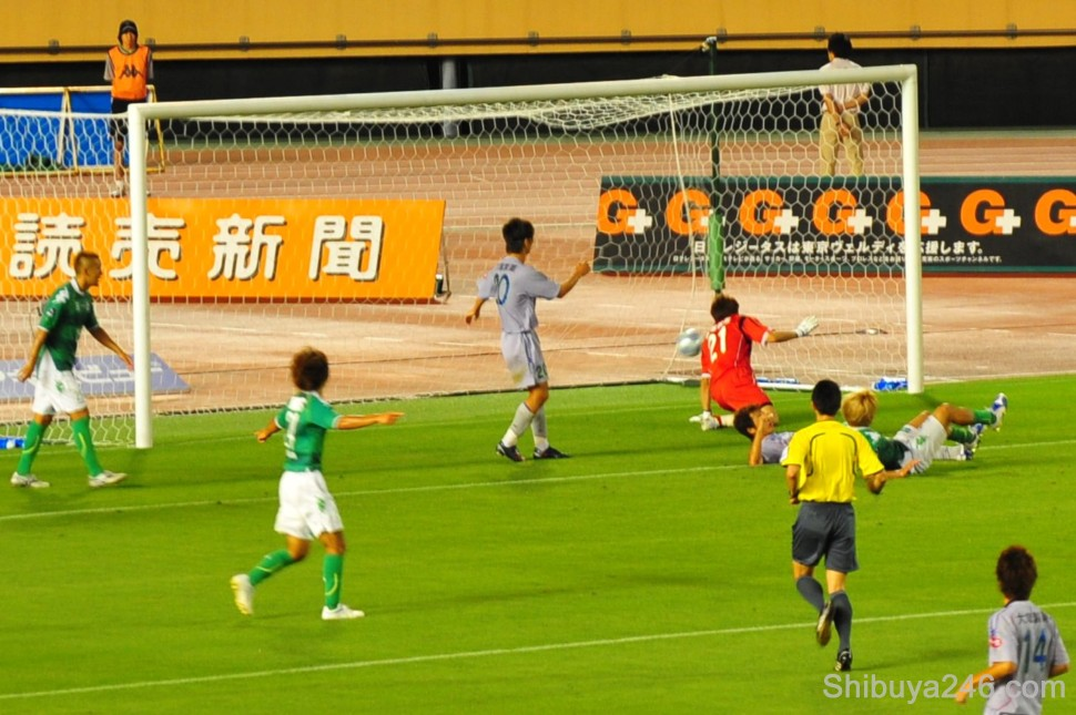 No stopping that ball as Verdy rack up another goal