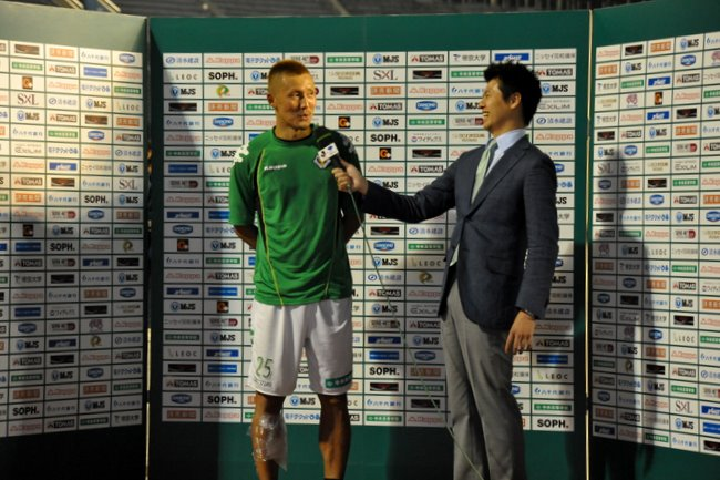 The Hero interview after the match
