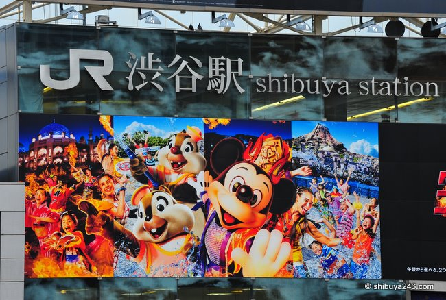 Advert for Tokyo Disney Sea at Shibuya Station