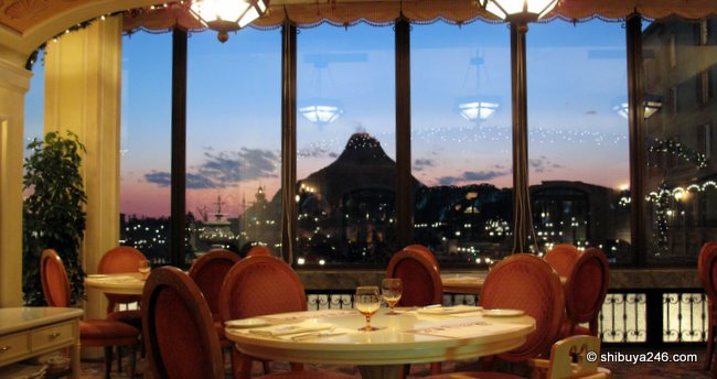 The MiraCosta Hotel restaurant overlooking Disney Sea, Tokyo