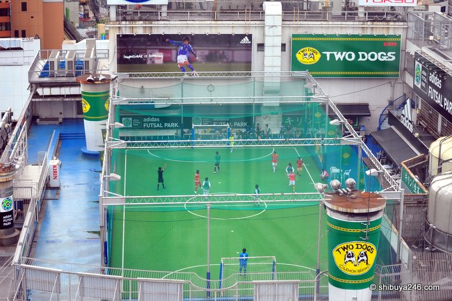 A view of the full pitch at adidas Futsal Park Shibuya