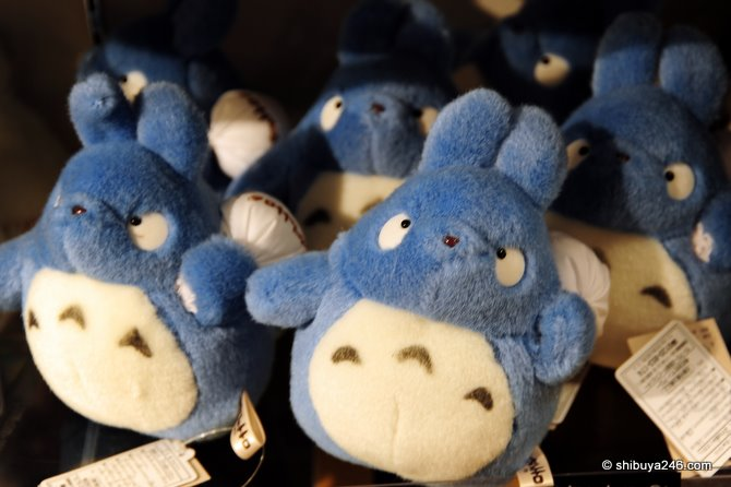 Totoro on sale in the Ghibili shop in Kyoto