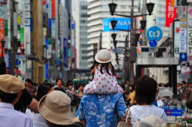 Great way to walk down the Ginza