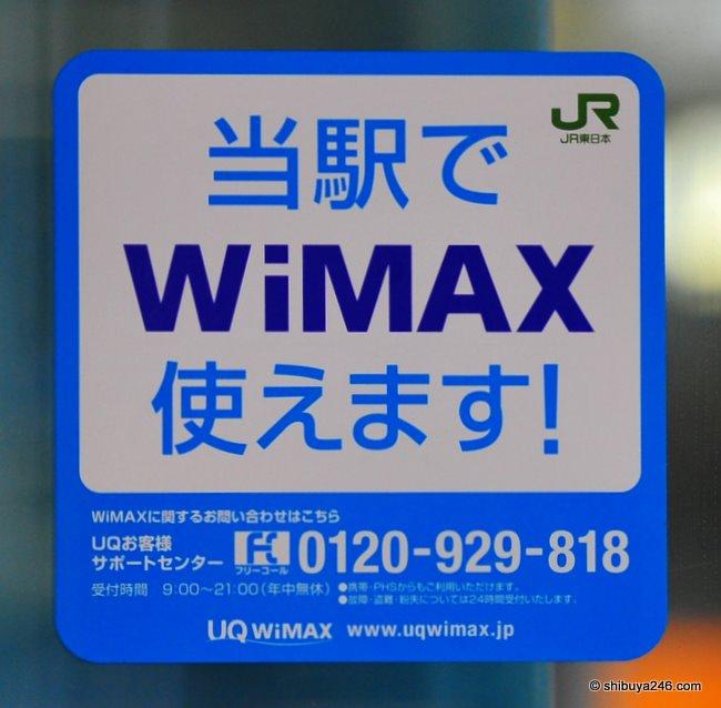 UQ WiMAX at Tokyo Station