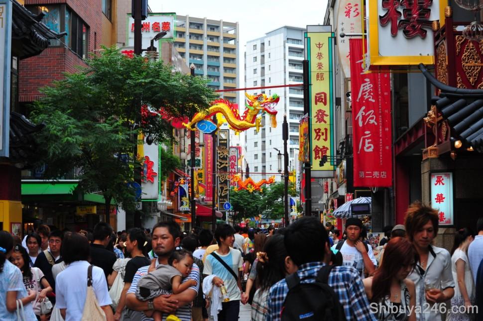 Always busy in Yokohama China Town