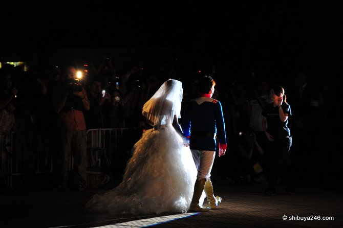 The Bride and Groom make their entrance