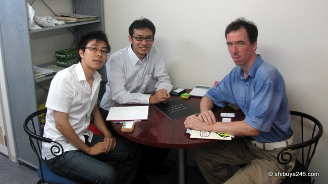 Meeting with Maeda-san and Saito-san, managers of Okaimono.com project