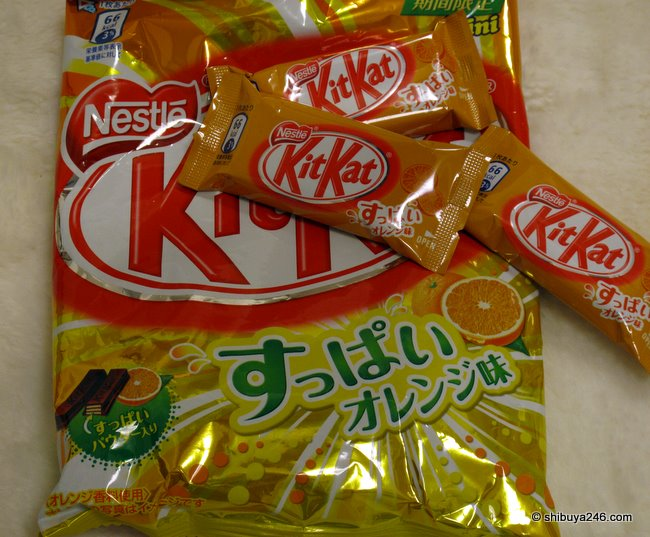 Bitter Orange Kit Kats. limited seasonal edition