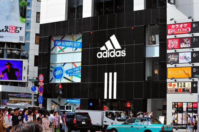 adidas concept store in Shibuya