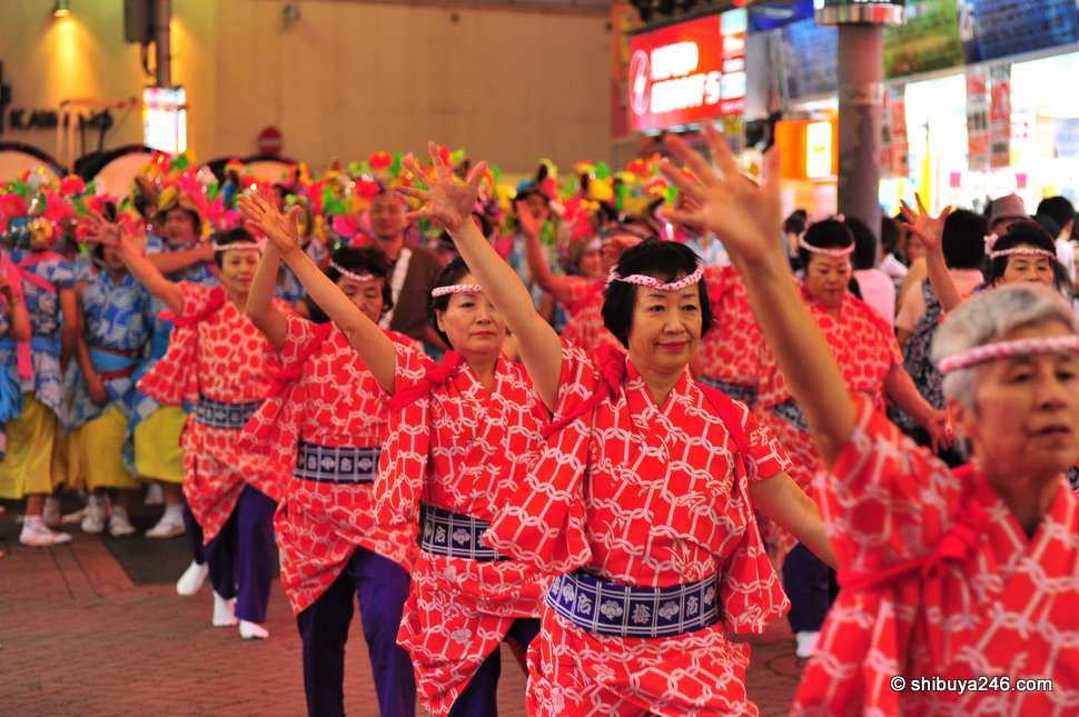 Not the normal age group I am used to seeing for a Matsuri, but they showed a lot of energy