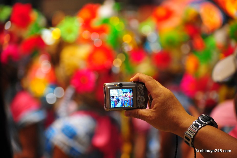 This Canon camera is getting a nice shot of the festival colors