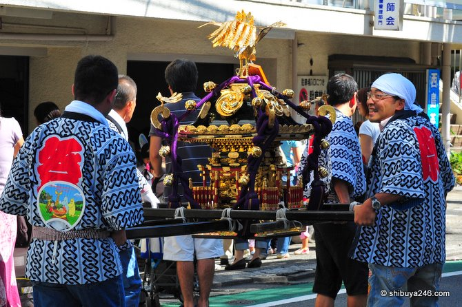 Recently there have cases of omikoshi being stolen. Best put this one away safe for next year.