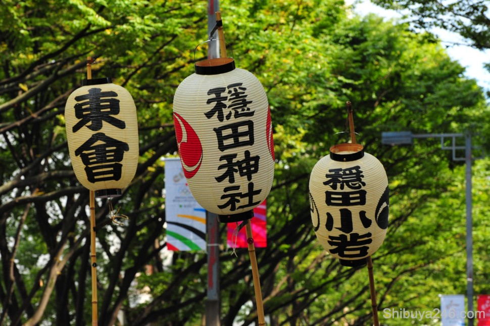 The lanterns looked spectacular against the greenery of Omotesandori