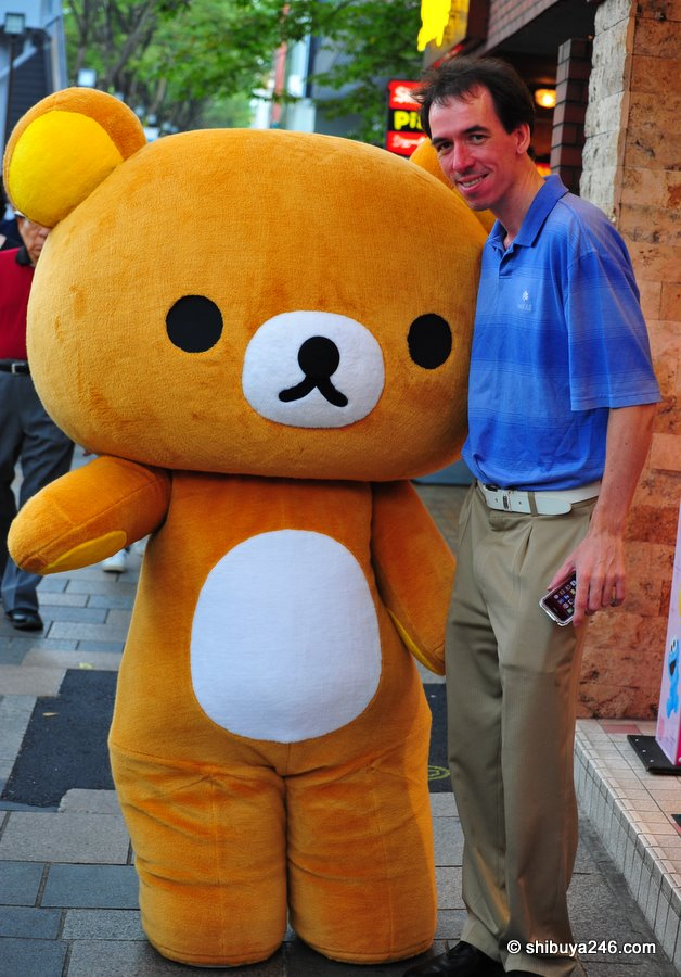 A full size Rilakkuma. Not quite as tall as me. Guess I wouldnt get the job
