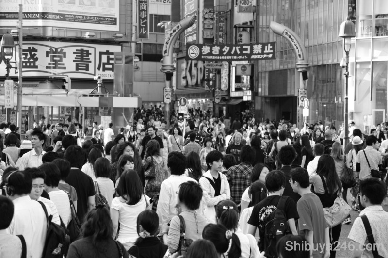 Plenty of people heading over to Center-gai for a stroll through Shibuya