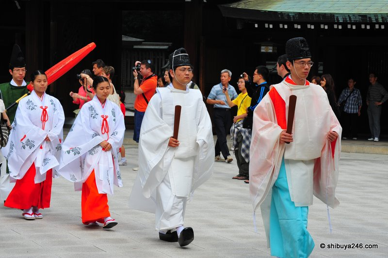 Priests on hand for a wedding ceremony