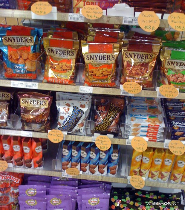 Quite a few foreign goods here. The 'Tim Tams' were just out of picture, sorry.