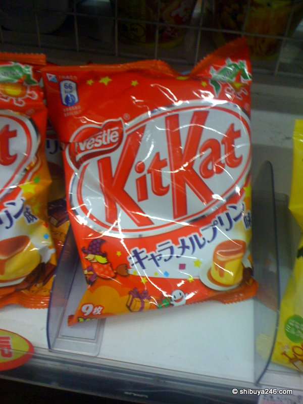 New flavored KitKat, caramel pudding