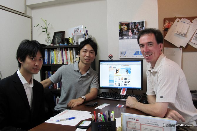 Meeting the Tenso.com in my Shibuya office
