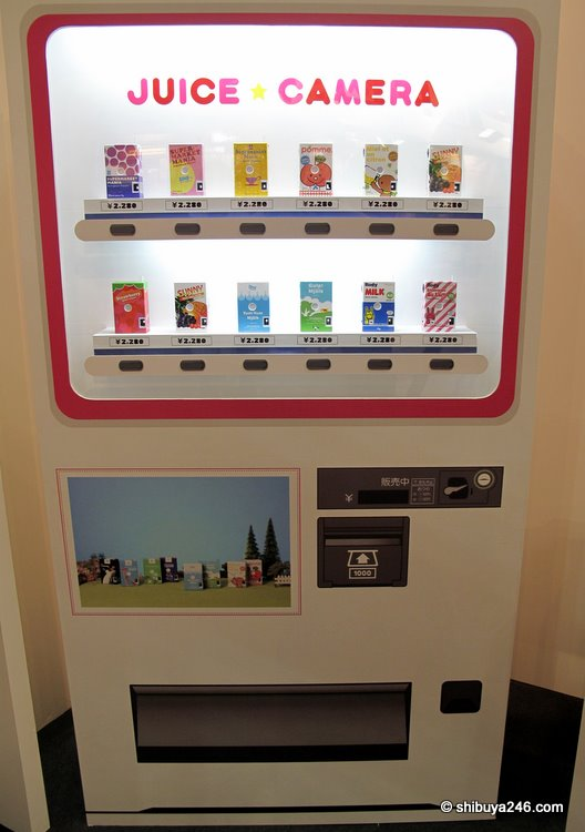Some of the staff had come up with the great idea of making a vending machine for the juic cameras