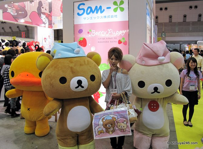Plenty of Rilakkuma fans available for photos