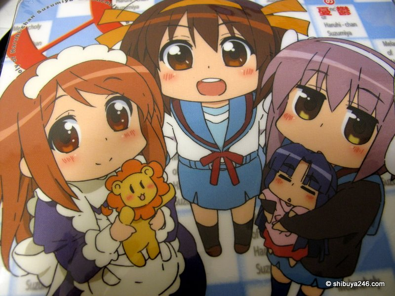 A mousepad by Kyoto Animation for 'The Melancholy of Haruhi Suzumiya'