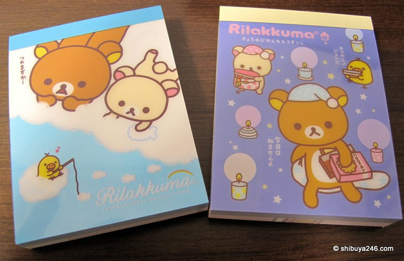Here are the external designs for these reminder notes. Nice and small with layers of cute