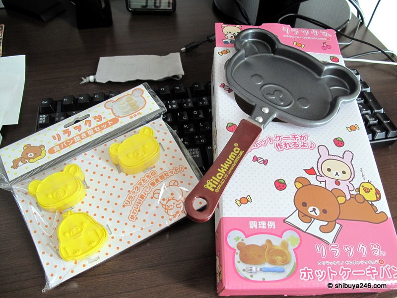 My Rilakkuma Pancake set newly acquired
