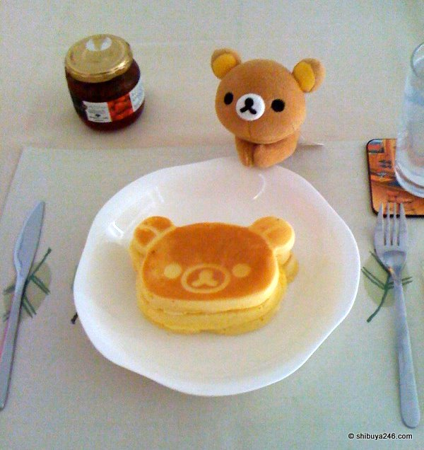 Here is the result of the Rilakkuma Pancake bakeoff