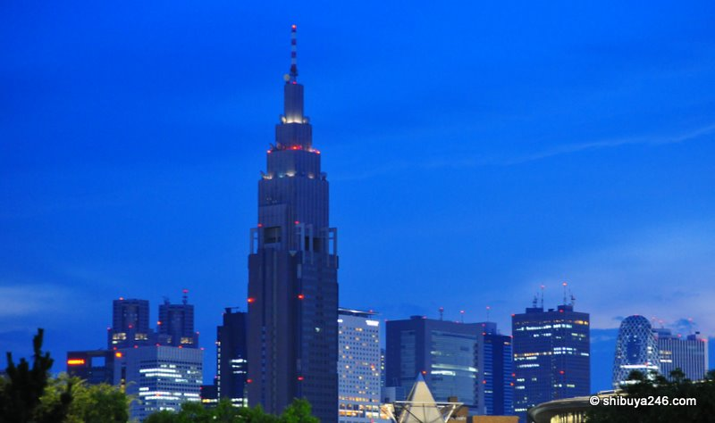 The NTT DoCoMo Tower at Yoyogi. A tower built on the profits of the data revenue model that from imode