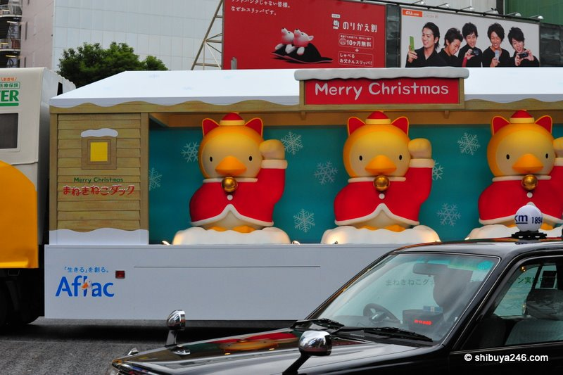 The Aflac ads in Japan use a duck. Some of the ads are really well made