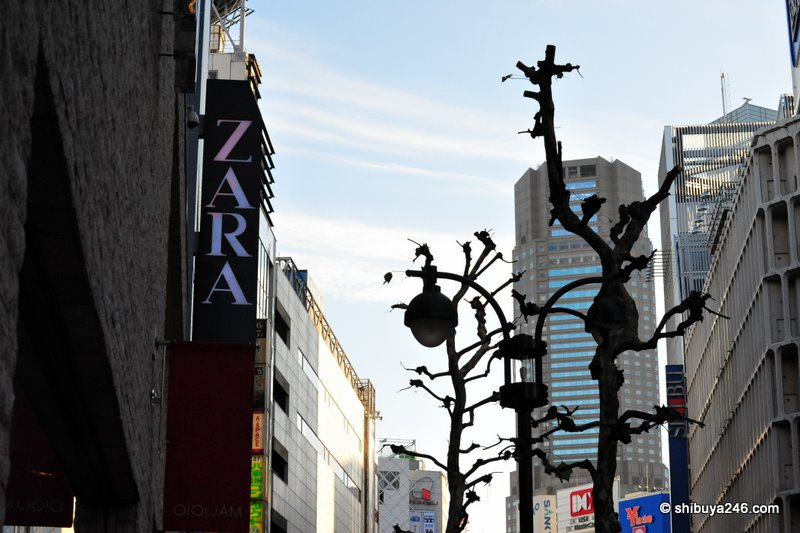 ZARA are about to open a store near Shibuya Station right next to Marui
