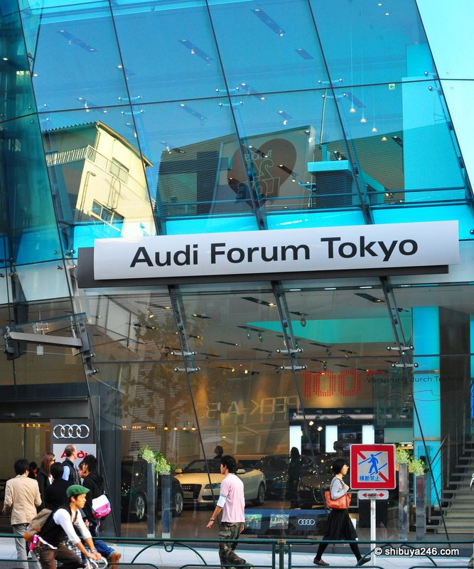 The Audi Forum Tokyo is quite an interestingly designed building