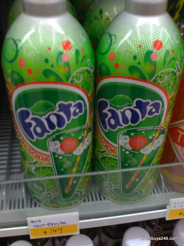 the melon fanta looked really lonely against the backdrop of the nanchatte cola. might need a refresh here!