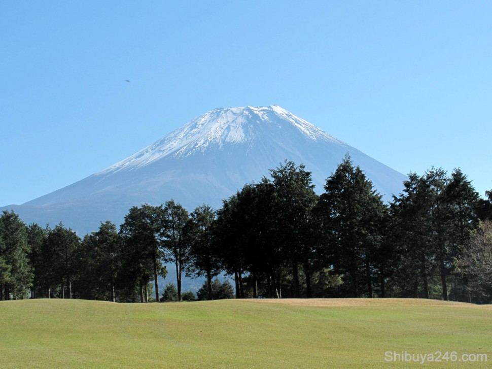 The course didn't need any water features or statuesque objects. Its main feature was Fuji-san