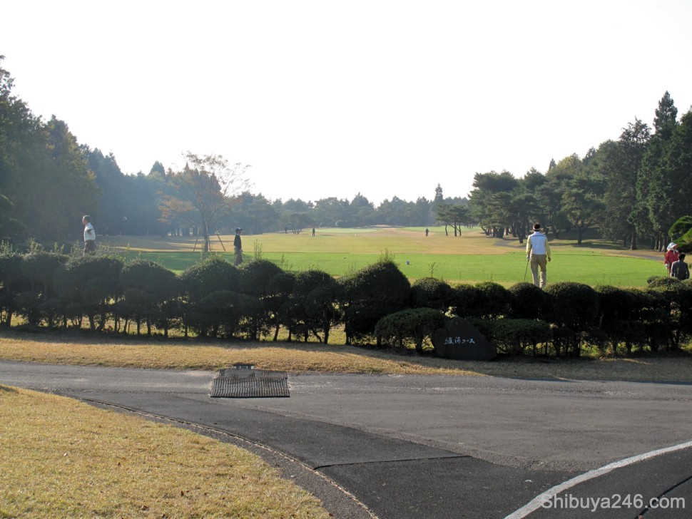 The first tee box showed a nice wide open fairway. This was about the only hole not to have a view of Mt Fuji