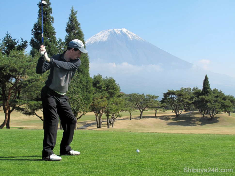 Time to smack the white ball down towards Fuji-san again