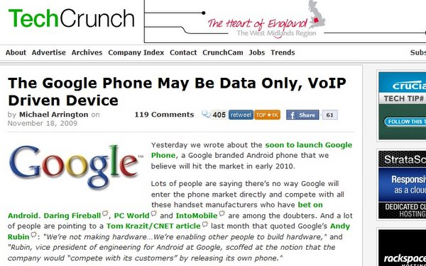 The new Google Phone may be Data only, from TechCrunch (click for more)