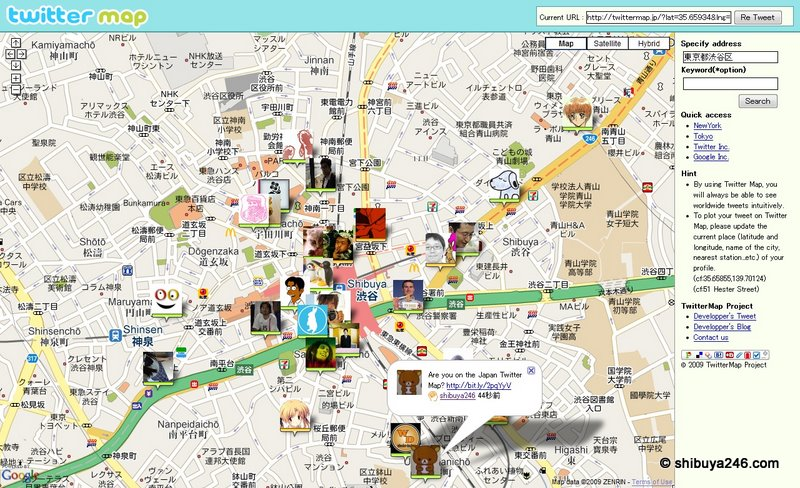 Are you on the Shibuya Twitter map today?