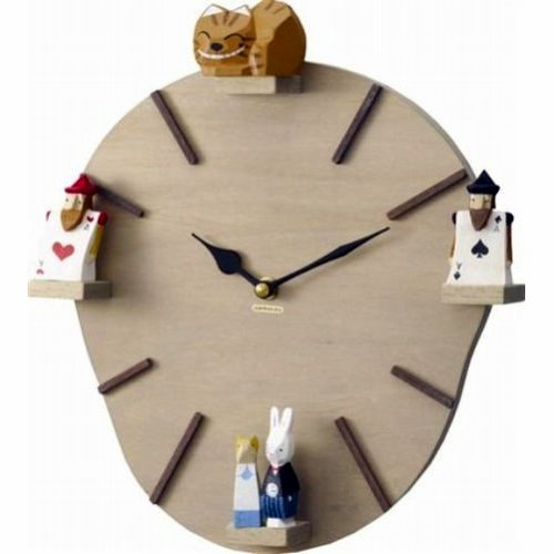 This clock is based on Alice in Wonderland - really lovely